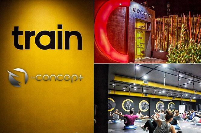 30€ για έναν (1) μήνα συνδρομή στο The Concept Terminal Gym στην Ηλιούπολη. Η προσφορά περιλαμβάνει συμμετοχή σε πληθώρα ομαδικών προγραμμάτων στις ειδικά διαμορφωμένες θεματικές αίθουσες (terminals)! εικόνα