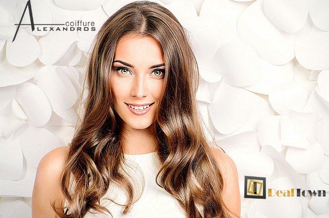 8€ από 18€ για ένα (1) χτένισμα και ένα (1) λούσιμο, Alexandros Coiffure Hair Specialist στο Νέο Ηράκλειο. Άριστες υπηρεσίες ομορφιάς για όλες τις γυναίκες. Στόχος η απόλυτη ικανοποίησή σας μέσα από ένα ολοκληρωμένο και δημιουργικό αποτέλεσμα. Έκπτωση 56%!! εικόνα