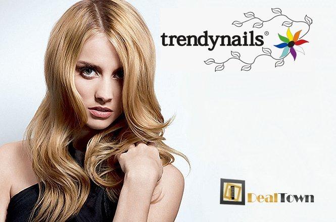 24.90€ για ένα εντυπωσιακό πακέτο που περιλαμβάνει μια (1) βαφή μαλλιών ή ανταύγειες, ένα (1) χτένισμα και ένα (1) λούσιμο, από το έμπειρο προσωπικό του Trendnails στο Σύνταγμα! εικόνα