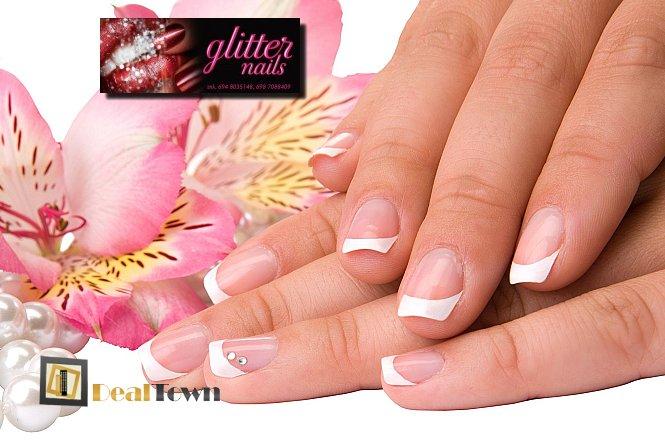 24€ για φυσική ενίσχυση νυχιών με ακρυλικό και εφαρμογή χρώματος (απλό ή γαλλικό), στον πανέμορφο και φιλόξενο χώρο του Glitter Nails στους Αγίους Αναργύρους. Τέλεια νύχια με εντυπωσιακό αποτέλεσμα!! εικόνα