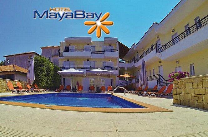 Από 110€ για 4 ήμερες/3 διανυκτερεύσεις 2 ατόμων στο Maya Bay Hotel, που βρίσκεται στη Καλλιθέα, Χαλκιδικής. Μόλις 350μ από την παραλία και υπέροχη εξωτερική πισίνα το Maya Bay σας υπόσχεται μοναδικές στιγμές δροσιάς & ξεκούρασης!! εικόνα