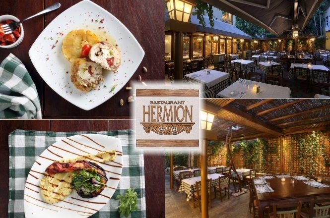 26€ από 53€ για γεύμα δυο (2) ατόμων που περιλαμβάνει ορεκτικό, σαλάτα, κυρίως πιάτα & γλυκό στο Hermion Restaurant στην Πλάκα! Γευτείτε τη δημιουργική ελληνική κουζίνα στον καταπράσινο κήπο του Ερμείον που βρίσκεται σε κέντρο–απόκεντρο της Πλάκας!! εικόνα