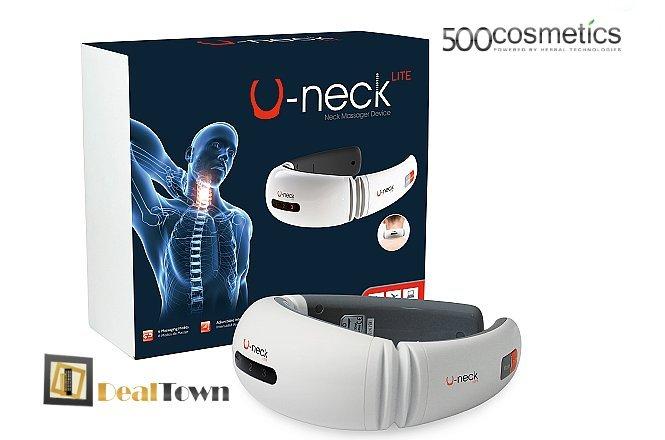 39€ για μια (1) συσκευή μασάζ U-Neck Lite για τον αυχένα με ΔΩΡΕΑΝ πανελλαδική αποστολή στο χώρο σας από την εταιρία 500Cosmetics. Απαλλαγείτε από τους ενοχλητικούς πόνους στον αυχένα, που δυσκολεύουν την καθημερινότητά σας και σας κάνουν να υποφέρετε, με μία συσκευή μασάζ, που συνδυάζει διαφορετικές λειτουργίες για τέλεια αποτελέσματα. Έκπτωση 69%!!