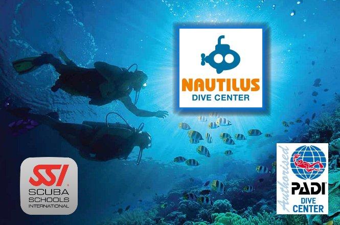 380€ για εκπαίδευση Open Water και ειδικότητα χρήσης αερίου Nitrox με βιβλία και πλήρη πιστοποίηση. Η προσφορά περιλαμβάνει και επιπλέον εκπτώσεις 10% για αγορά εξοπλισμού από το κατάστημα, Nautilus Dive Center στην Ηλιούπολη!!