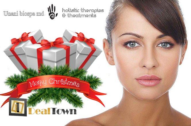 11€ από 65€ για Tριπλή Eορταστική Θεραπεία Προσώπου Extra-Full Face που περιλαμβάνει καθαρισμό με λεπίδα ultrasonic για άμεση λάμψη, βαθιά ενυδάτωση με υπέρηχο τρίτης γενιάς & θεραπεία ανάπλασης-σύσφιξης με ραδιοσυχνότητες & υποστηρικτική θεραπεία ματιών με μικροσφαιρίδια guarana & κρυομάσκα & επιπλέον λεμφική μάλαξη με εκχυλίσματα αλόης, συνολικής διάρκειας 65 λεπτών. Γιορτινή προσφορά για να έχετε υπέροχο και λαμπερό πρόσωπο από το Unani Biospa στο Χαλάνδρι!!