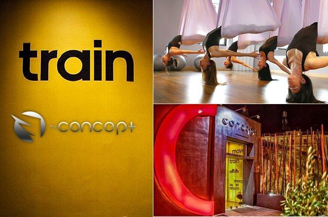35€ από 60€ για Τέσσερα (4) μαθήματα Aerial Yoga στο The Concept Terminal Gym στην Ηλιούπολη!! εικόνα