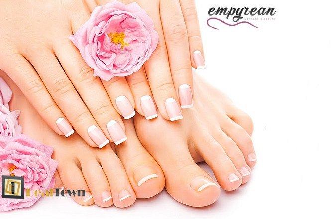 9€ για ημιμόνιμο manicure ή 14.90€ για ημιμόνιμο manicure & απλό pedicure ή 17.50€ για ημιμόνιμο manicure & ημιμόνιμο pedicure στο ολοκαίνουργιο Empyrean Massage & Beauty στο Αιγάλεω. Με επιλογή από πολλά υπέροχα χρώματα για όμορφα & περιποιημένα νύχια από επαγγελματίες στο είδος τους!! εικόνα