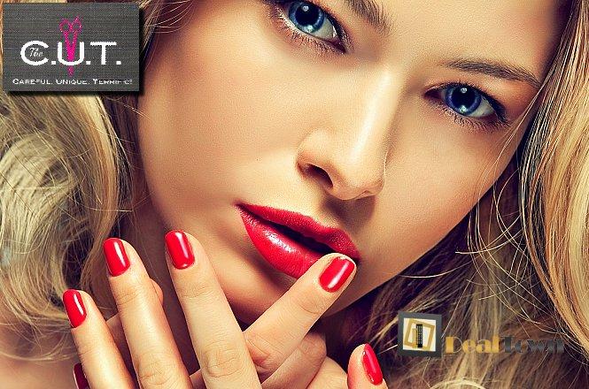 16€ από 40€ για ημιμόνιμο manicure επιλογής από απλό ή γαλλικό & αποτρίχωση άνω χείλους με κλωστή & χτένισμα in out λούσιμο, conditioner και προϊόντα styling, the CUT by Apostolis Ntounias στο Παλαιό Φάληρο!!