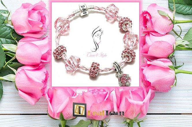 13.20€ για ένα (1) Πανέμορφο Pandora style LOVE bracelet-δερμάτινο με επάργυρο μεταλλικό σύνδεσμο ασφαλείας και crystal alloy charms. Αποκλειστικά από το Time4Style στην Αθήνα. Δυνατότητα παραλαβής από το κατάστημα ή και με πανελλαδική αποστολή στον χώρο σας!!