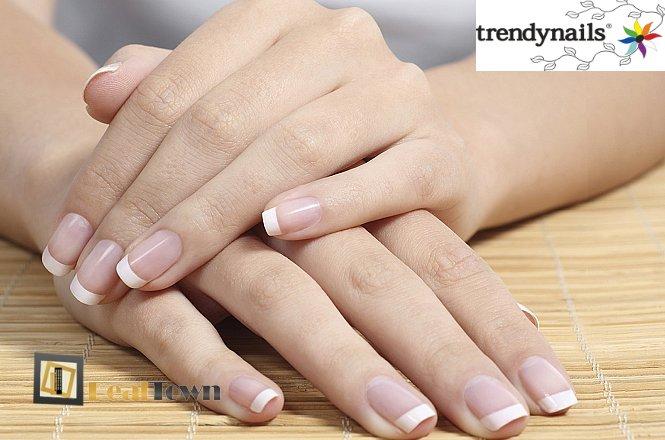 MONO 5€ για ένα (1) mani με ημιμόνιμο βιολογικό βερνίκι χρώμα ή γαλλικό επιλέγοντας ανάμεσα από 30 υπέροχα χρώματα, διάρκειας έως 10 ημέρες ΚΑΙ περιποίηση χεριών με αιθέρια έλαια, στον υπέροχο & μοντέρνο χώρο του Trendnails στο Σύνταγμα. εικόνα