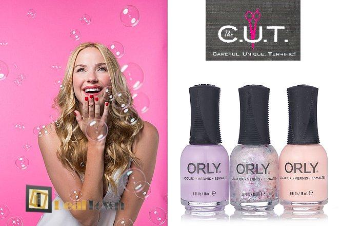 15€ από 44€ για ένα ημιμόνιμο manicure με προϊόντα ORLY, ένα χτένισμα ίσιο ή φλου, μια θεραπεία ενυδάτωσης και λούσιμο, στο κομμωτήριο The CUT by Apostolis Ntounias στο Παλαιό Φάληρο!! Αφεθείτε στα χέρια των ειδικών του κομμωτηρίου C.U.T, ακολουθήστε τις συμβουλές μας και δείτε τα μαλλιά σας σε άλλη διάσταση!! εικόνα