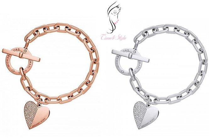 Από 25€ για Βραχιόλι Michael Kors style Heart σε ασημί ή ροζ-χρυσό χρώμα, αποκλειστικά από το Time4Style στην Αθήνα. Δυνατότητα παραλαβής από το κατάστημα ή και με πανελλαδική αποστολής στον χώρο σας!! εικόνα