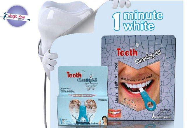 5.90€ για κιτ καθαρισμού/λεύκανση δοντιών με παραλαβή από το Magic Hole στην Αθήνα ή 8.90€ για πανελλαδική αποστολή στο χώρο σας.Το κιτ καθαρισμού των δοντιών Magic είναι ένα πρωτοποριακό προϊόν καθαρισμού δοντιών, που αναπτύχθηκε από την τελευταία νανοτεχνολογία.