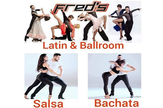 """ΜΟΝΟΔΙΚΗ ΤΙΜΗ ΜΕ ΜΟΝΟ 5€ από 50€ οκτώ (8) ώρες Latin και Ballroom χοροί διάρκειας 1 μήνα, στη σχολή χορού """"Fred's Dance"""" στην καρδιά του Πειραιά. Με προσεκτικά επιλεγμένους δασκάλους, σας δίνουμε εγγύηση για γρήγορη και σωστή μάθηση και καταξίωση στον χώρο του χορού. Έκπτωση 90%!!"""