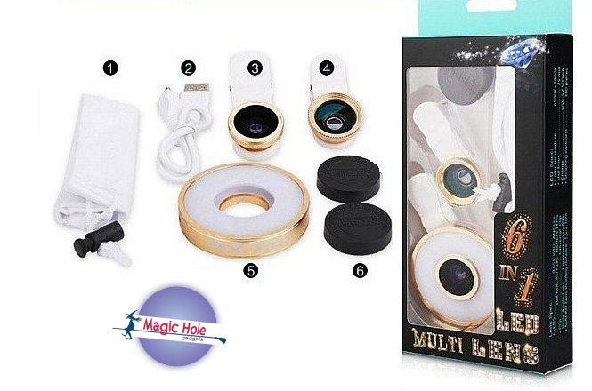 9.90€ για 6 σε 1 Universal Clip σε φακό κάμερας με φώτα LED με δυνατότητα παραλαβής από το κατάστημα Magic Hole στην Αθήνα ή 12.90€ με πανελλαδική αποστολή στο χώρο σας. εικόνα
