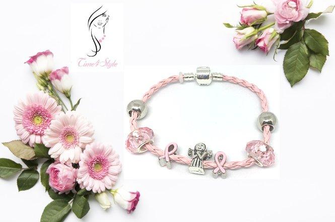 Από 18.2€ για Pandora style bracelet με δερμάτινο με επάργυρο μεταλλικό σύνδεσμο ασφαλείας και crystal alloy charms. Αποκλειστικά από το Time4Style στην Αθήνα. Δυνατότητα παραλαβής από το κατάστημα ή πανελλαδική αποστολής στον χώρο σας!!