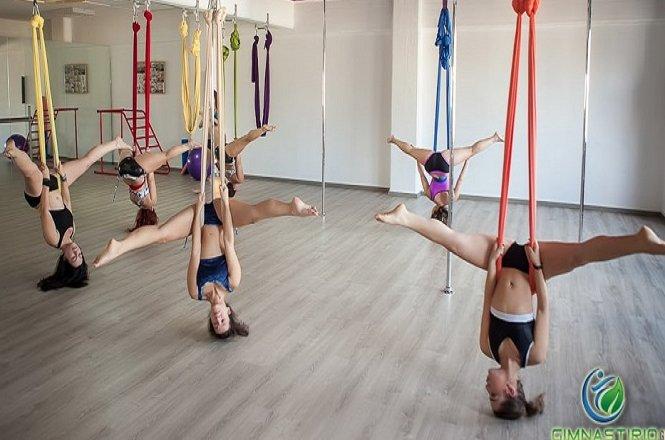 30€ για τέσσερις εβδομάδες που περιλαμβάνει μαθήματα Aerial Sling/Hoop/Cube κι ένα μάθημα Power Fit ή Aerial Fitness στο Spin Top Pole • Aerial • Dance • Fitness στην Αθήνα.