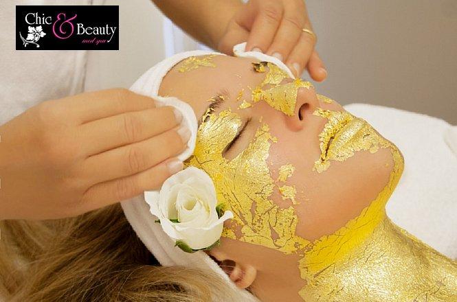 """27€ από 65€ Full Body Massage 45 λεπτών & Περιποίηση Προσώπου Με Μάσκα Χρυσού. Μια προσφορά από το κέντρο αισθητικών εφαρμογών """"Chic & Beauty Med Spa"""" στο Περιστέρι."""