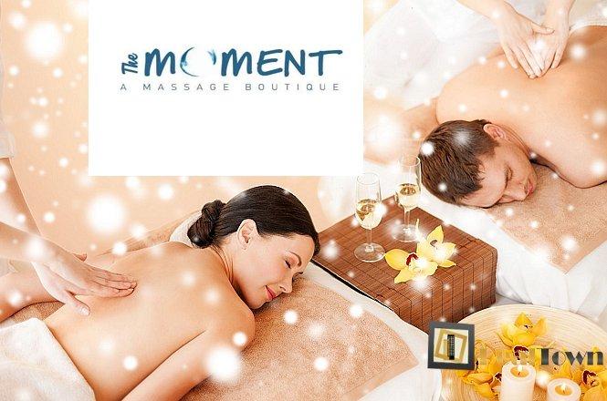 40€ για Full Body Relax Natural Massage με Olive Oil ή Essential Oils και Φυσικό Peeling Σώματος Cocoon Brushing, για 2 άτομα, στο ολοκαίνουργιο SPA The Moment A Massage Boutique στο Κουκάκι (Μετρό Συγγρού Φιξ). Εμπνευσμένη ομάδα θεραπευτών μάλαξης που στόχο έχουν να προσφέρουν ποιοτικές θεραπείες μασάζ με αγνά βοιολογικά προιόντα για μέγιστα δυνατά αποτελέσματα. εικόνα