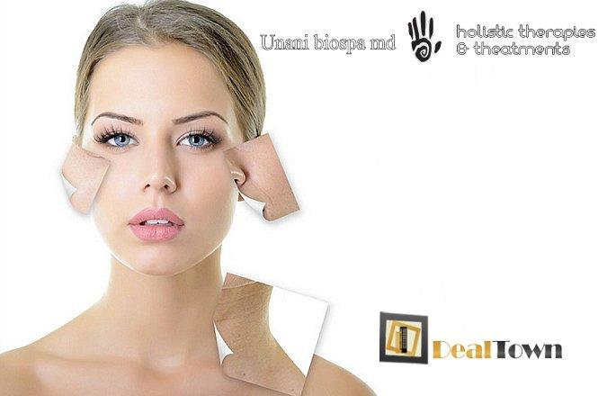11€ Tριπλή Θεραπεία Προσώπου Extra-Full Face που περιλαμβάνει καθαρισμό με λεπίδα ultrasonic για άμεση λάμψη, βαθιά ενυδάτωση με υπέρηχο τρίτης γενιάς & θεραπεία ανάπλασης-σύσφιξης με ραδιοσυχνότητες & υποστηρικτική θεραπεία ματιών με μικροσφαιρίδια guarana & κρυομάσκα & επιπλέον λεμφική μάλαξη με εκχυλίσματα αλόης, συνολικής διάρκειας 65 λεπτών. Μια προσφορά για να έχετε υπέροχο και λαμπερό πρόσωπο από το Unani Biospa στον Γέρακα!! εικόνα