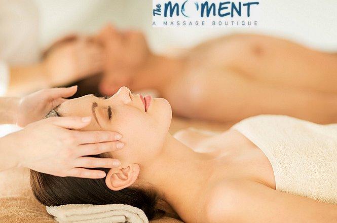 35€ από 75€ για Full Body Natural Relaxing Massage και Αντιστρές Μασάζ Προσώπου, για 2 άτομα, στο ολοκαίνουργιο SPA The Moment A Massage Boutique στο Κουκάκι (Μετρό Συγγρού Φιξ). Εμπνευσμένη ομάδα θεραπευτών μάλαξης που στόχο έχουν να προσφέρουν ποιοτικές θεραπείες μασάζ με αγνά βοιολογικά προιόντα για μέγιστα δυνατά αποτελέσματα. εικόνα
