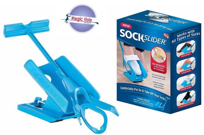 6,90€ Καλτσοφορετή Socks Slider, με παραλαβή από το Magic Hole στο Παγκράτι και με δυνατότητα πανελλαδικής αποστολής. Έξυπνο εργαλείο για να φοράτε εύκολα και χωρίς κόπο τις κάλτσες και τα παπούτσια σας. εικόνα