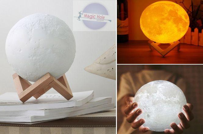 13.90€ Επαναφορτιζόμενο Φωτιστικό 3D Φεγγάρι Moon Light LED Με 3 Αποχρώσεις με παραλαβή από το Magic Hole ή 16.90€ για πανελλαδική αποστολή στο χώρο σας. Ρεαλιστική νυχτερινή προβολή του φεγγαριού, με κρατήρες και κηλίδες για την προσομοίωση της επιφάνειας του. εικόνα
