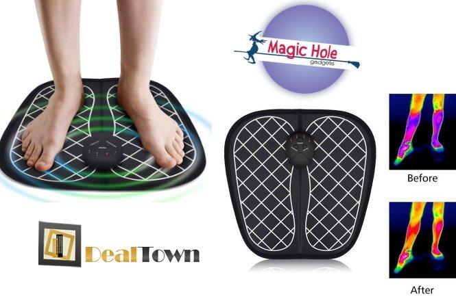 11.90€ για Συσκευή μασάζ ποδιών EMS Foot Massager με παραλαβή από το Magic Hole στην Αθήνα ή 14.90€ για πανελλαδική αποστολή στο χώρο σας.Μπορεί να ανακουφίσει τη μυϊκή ένταση και να βελτιώσει τη ροή του αίματος, να απαλύνει την πίεση στα νεύρα και να αποκαταστήσει τη φυσιολογική κίνηση των αρθρώσεων. εικόνα