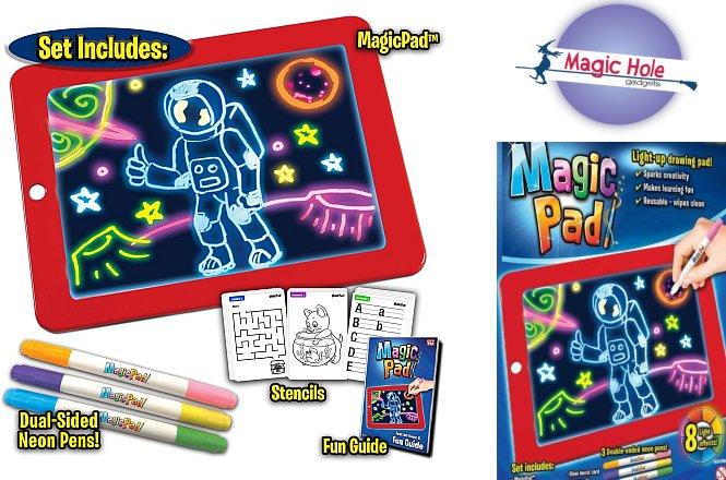 8.90€ Μαγικό Sketchpad Ζωγραφικής Με Φωτισμό με παραλαβή από το Magic Hole ή 11.90€ πανελλαδική αποστολή. Το pad ζωγραφικής δεν εξαντλείτε ποτέ αφού μόλις τελειώνετε μια ζωγραφιά απλά σκουπίστε και ξαναρχίστε από την αρχή.