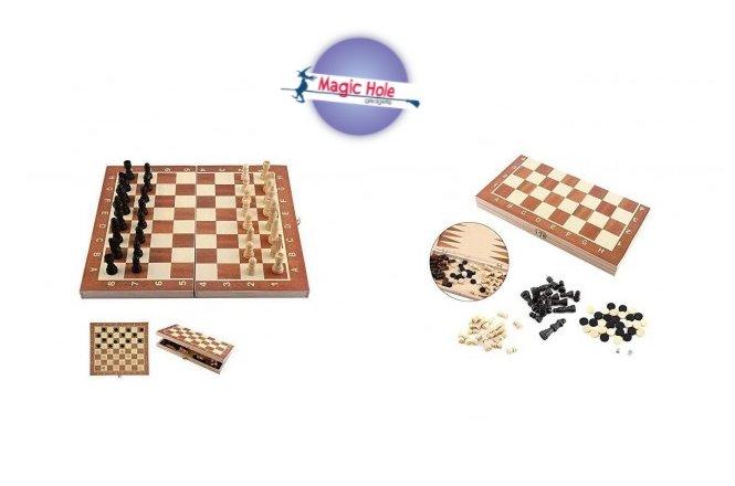 8.50€ 3-σε-1 σκάκι ταξιδίου 25X25cm με παραλαβή από το Magic Hole στην Αθήνα ή 11.50€ με πανελλαδική αποστολή στο χώρο σας.
